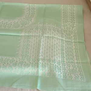 Lovely Damask Green Tablecloth Vintage